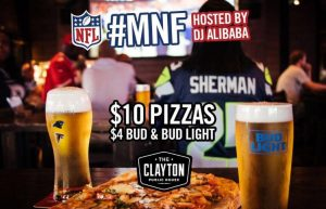 """Monday Night Football"" @ The Clayton Public House"